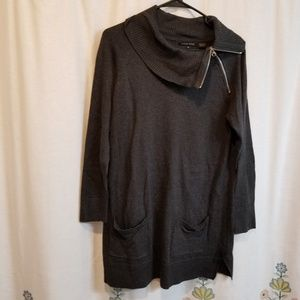 Jeanne Pierre zippered sweater dress